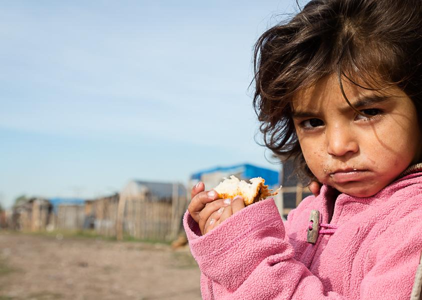 Rostro de la infancia de una toma popular de Buenos Aires, Argentina. ENLACE A ARGENTINA