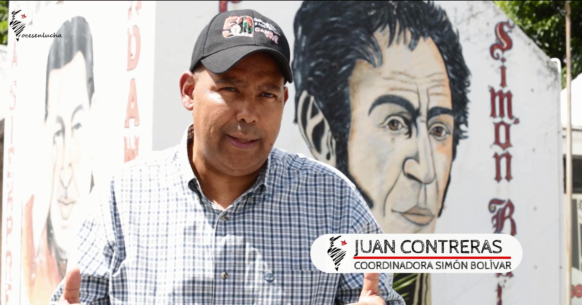 Juan Contreras. Coordinadora Simón Bolívar - Vocesenlucha